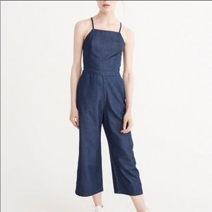 Abercrombie and Fitch Chambray Culotte Jumpsuit